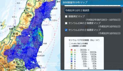 昨年の放射能汚染状況